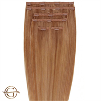 Clip on hair extensions #30 Kastanie - 7 sæt - 50 cm | Gold24