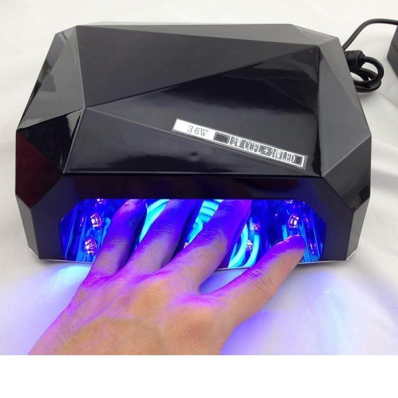 uv lampe til negle med led lys 36 watt 220v sort. Black Bedroom Furniture Sets. Home Design Ideas