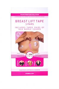 Bryst Tape Bye Bra push-up tape Silk Str. D. E og F