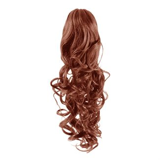 Pony tail Fiber extensions Curly rød 33#