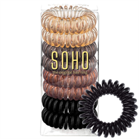 SOHO® Spiral Hårelastikker, Mother Earth - 8 stk.