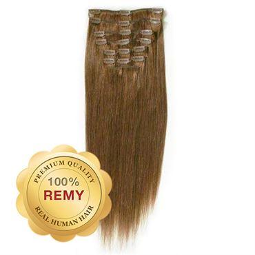 Clip On Extensions - 40 cm #6 Brun