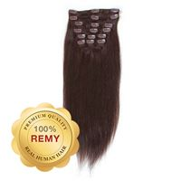 Clip On Extensions - 40 cm #2 Mørkebrun