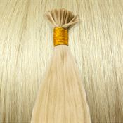 50 cm Cold Fusion hair extensions Platin blond 60#