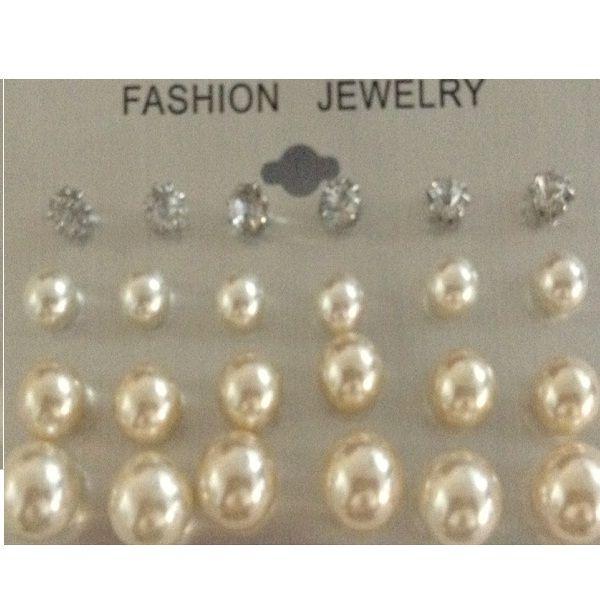 d058cd7ba0b 12 stk perle øreringe marmor farve Classic Marmor | SPAR 25-80%!