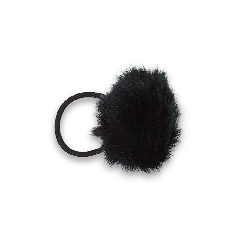 hårelastik med pels