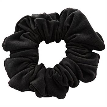 Scrunchie - Velour & elastisk - Sort