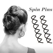 Spin Pins sort 2 stk