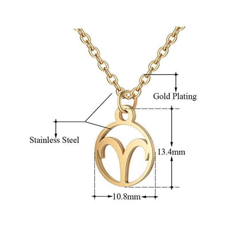 f7efcf1171f Bedømmelse for Stjernetegn halskæde: Vædder - Zodiac, Guld